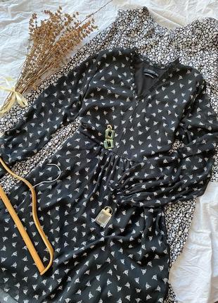 Легкое платье на подкладке в цветочный принт reserver