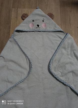 Полотенце с капюшоном для маленьких
