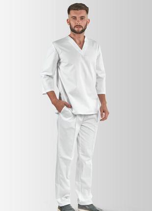 Костюм медичний, робочий  toffy чоловічий білий