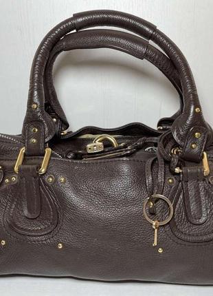 Chloe paddington  оригинал сумка кожаная
