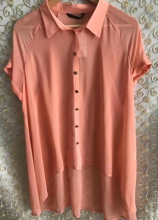 Шифонова блузка персикового кольору