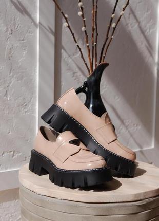 Туфлі жіночі весна- осінь з натуральної шкіри.