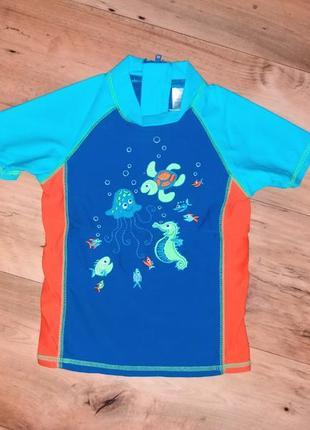 Детская солнцезащитная футболка для плавания для бассейна отдыха для мальчика