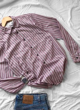 Трендовая пыльно-розовая рубашка в полоску от howick