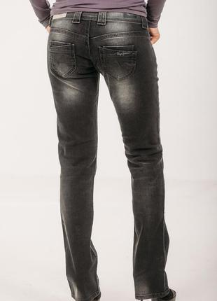 Ликвидация с возвратом! английские прямые джинсы потертые стрейчевые