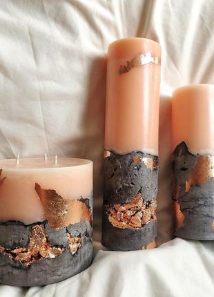 Свечи ароматические / в бетоне / набор на подарок
