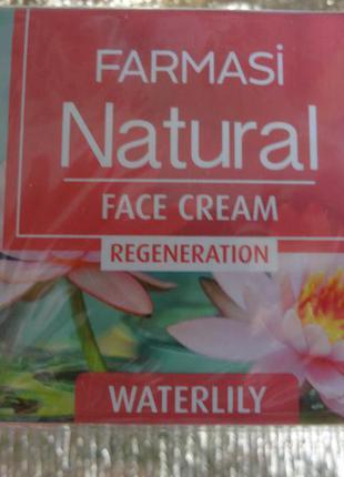 Восстанавливающий крем для лица с экстрактом водяной лилии от farmasi, 50 мл