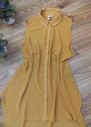 Шифоновая удлиненная блузка