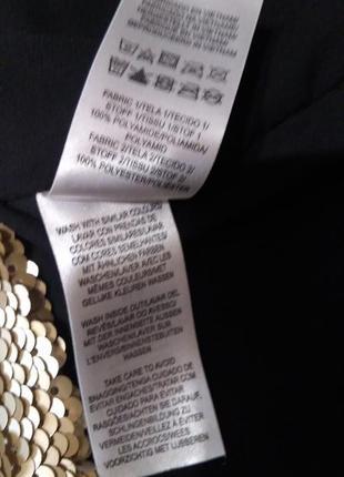Топ на тонких бретельках с золотыми пайетками4 фото