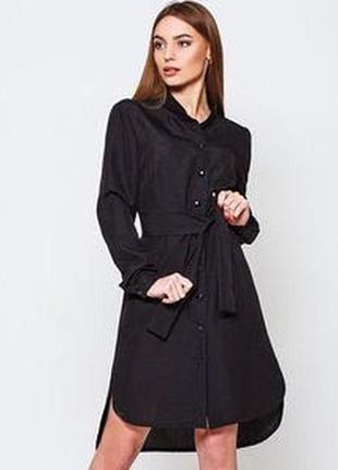 Чёрная рубашка платье