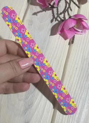 Пилка пилочка для ногтей 100/180 pink probeauty