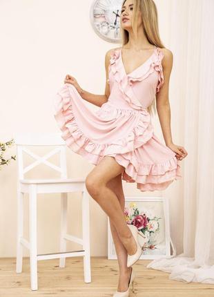 Платье 104r1295, р-р l (s-m), сарафан, платьице с воланом, с рюшами