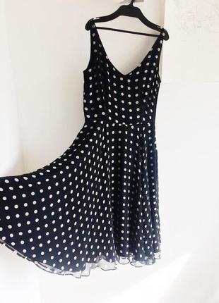 Шелковое платье, 100% шёлк (верх и подкладка)