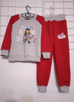 Спортивный костюм для детей двунитка весна лето