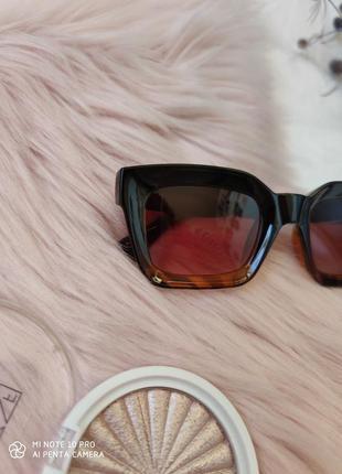 Очки окуляри солнцезащитные солнце трендовые леопард новые4 фото