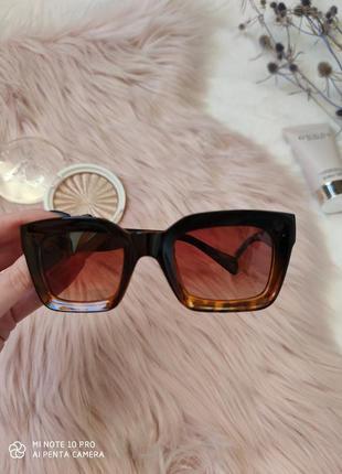 Очки окуляри солнцезащитные солнце трендовые леопард новые5 фото