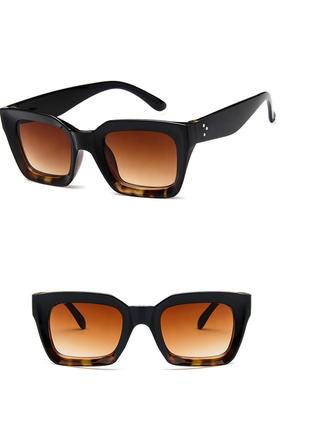 Очки окуляри солнцезащитные солнце трендовые леопард новые2 фото