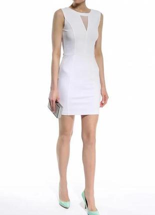 Облегающие платье мини трикотажное платье короткое guess