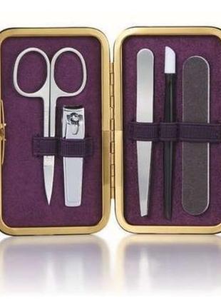 Маникюрный набор ножницы, пинцет,пилочка, кусачки, пушер. очень качественный
