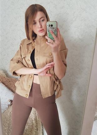 Шикарний  піджак на гудзиках кольору кемел weill
