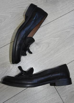 Кожаные туфли лоферы john lewis оригинал размер 38 стелька 24.5 см кожа