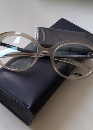 Новая оправа jil sander оригинал очки титановая премиум полупрозрачные