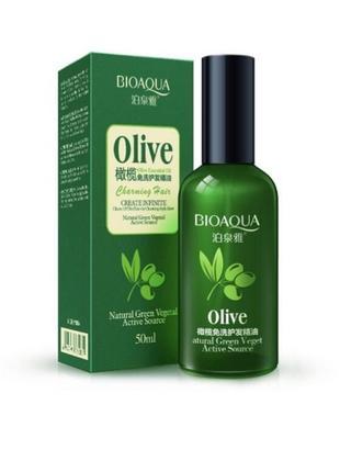 Масло для волос с оливковым маслом.