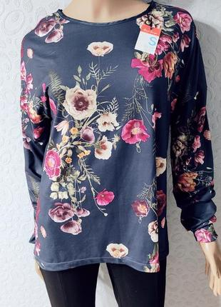 Женская блуза в цветочный принт, кофта