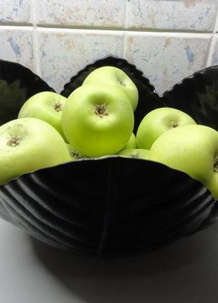 Вазы фруктовницы 2:1универсал:посуда-декор)винтаж (1992г) чёрн. аркопал.эксклюзив!