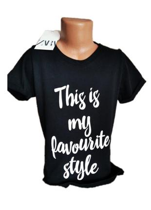 Новая  футболка для девочек(девушек) черного цвета zara 8-14 лет