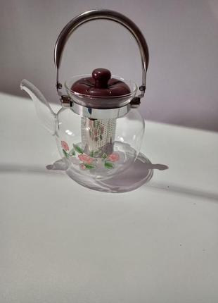 Чайник заварник 1.2л стеклянный