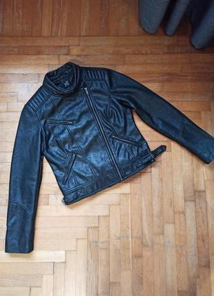 Куртка косуха кожанка reserved на подкладке