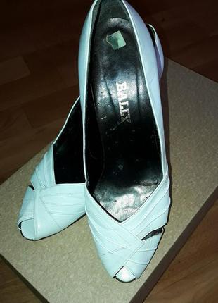 Туфли- босоножки bally. свадебные. будьте стильными.😉