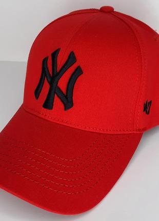 Кепка бейсболка нью йорк ny new york красная червона