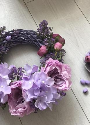 Пасхальный венок в фиолетово-лиловых тонах!