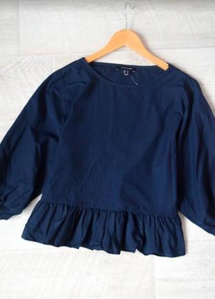 Хлопковая объемная блуза баллон