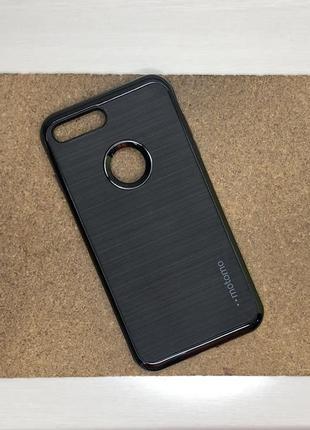 Чехол противоударный черный на для айфон iphone 7 + плюс plus силиконовый