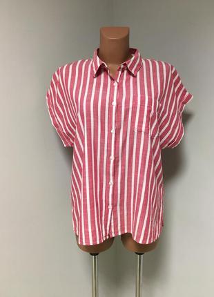 Классная рубашка в полоску из 100% хлопка