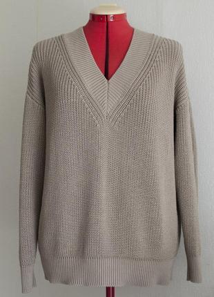 Пуловер жемчужной резинкой из хлопка