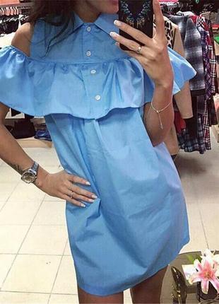 Платье / платье- рубашка с воланом плаття жіноче