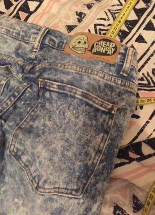 Крутые градиент джинсы скинни cheap monday