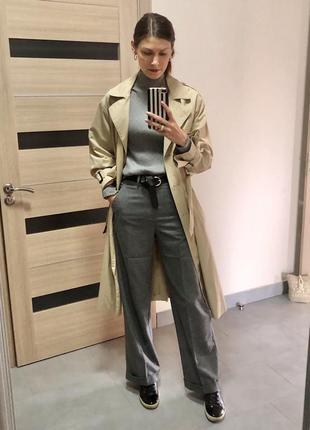 Шерстяные брюки mango 36 рр
