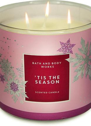 Свеча ароматизированная bath and body works tis the season