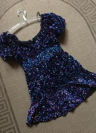 Сногсшибательное коктейльное платье для выпускного zara в пайетку