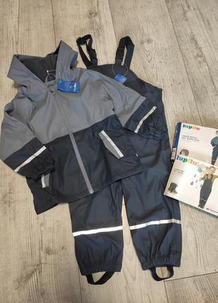 Комплект дождевик куртка и штаны полукомбинезон грязепруф 98/104