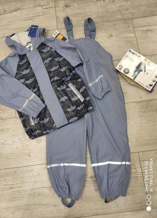Комплект дождевик куртка и штаны полукомбинезон грязепруф 122/128