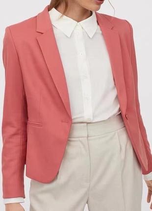 Приталенный пиджак h&m