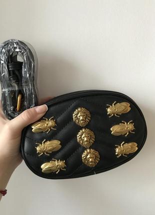 Кожаная сумка гуччи на пояс