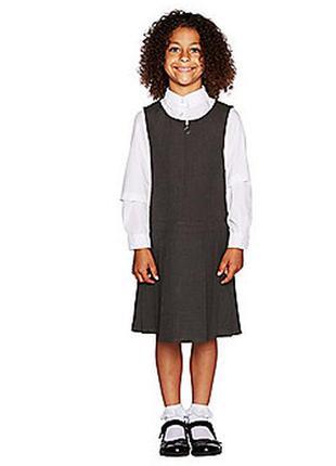 Серый школьная форма вискозный сарафан george 10-11л 140-146см