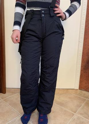 Женские лыжные штаны, полу комбинезон лыжный  in extenso